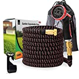 100 FT Expanding Hose Pipe – Garden Water Hose with 10 Setting...