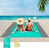 ISOPHO Beach Blanket Picnic Blanket, Extra Large 210 x 200cm...