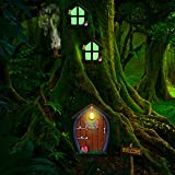 Home Miniature Window and Door with Litter Lamp Tree Face Outdoor...