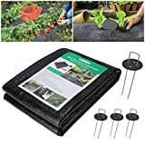 Wokkol Weed Control Fabric, Weed Barrier Fabric, Landscape...