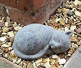 Garden decor cat sleep indoor outdoor ornament statue animal home...