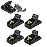 BOMPOW Mouse Traps Reusable Snap Mice Traps That Work Rodent...