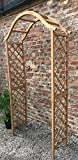 RUDDINGS WOOD Wooden Garden Tan Arch - Wood Arbour Pergola Plant...