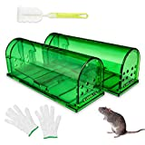 LMLMD Humane Mouse Trap, Reusable Rodent Trap 2 Pack with...