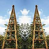 Smart Garden 2 x Tan Wooden Woodland Obelisk 1.5m Plant Support...