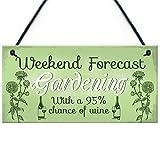 RED OCEAN Garden Novelty Hanging Plaque SummerHouse Garden Shed...