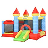 Outsunny Kids Bounce Castle House Inflatable Trampoline Slide...
