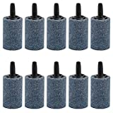 Uniclife 10 PCS Air Stone Cylinder 3cm Bubble Diffuser Airstones...