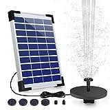 AISITIN 5.5W Solar Fountain Pump, Solar Water Pump Floating...