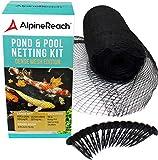 AlpineReach Koi Pond Netting Kit 4.5m x 6m Black Heavy Duty Woven...
