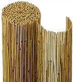 FlickBuyz Natural Peeled Reed Fence Wooden Garden Screen Bamboo...