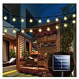 iihome Solar Garden Lights, 60 LED 36ft Waterproof Outdoor String...