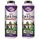 2 x Doff 700g Super Cat & Dog Repellent - Shaker Bottle safe...