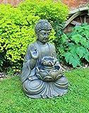 HH Home Hut Buddha Water Feature Fountain Garden Ornament...