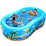 iBaseToy Inflatable Swimming Pool, 240 x 150 x 60cm Large Family...