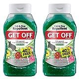 2 x Get Off My Garden Cat & Dog Repellent 460g+40%