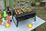BBQ Grill, Charcoal Barbecue Grill, Fire Pit, Folding, Portable...
