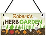 RED OCEAN PERSONALISED Any Names Herb Garden Shed Summerhouse...