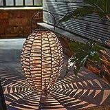 Festive Lights - Outdoor Solar Rattan Lantern - Weaved LED...