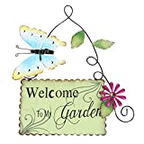 Yardwe Welcome to My Garden Sign Hanging Garden Sign Shed...