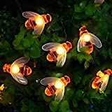 [50 LED] Solar Garden Lights, Honey Bee Fairy String...