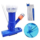 LRIO Swimming Pool Jet Vacuum Cleaner with 5 Pole Section...
