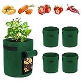 Potato Grow Bag, 5 Pack 5 Gallon Vegetable Grow Plant Bags...