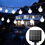 Solar String Lights Garden, 24 Ft 30 Waterproof Crystal Ball LED...