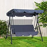 3 Seater Canopy Swing Chair Outdoor Garden Patio Rocking Bench...