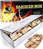 Grill Smoker Box for Wood Chips - Use a Gas or Charcoal BBQ and...