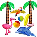 aovowog 8 Pcs Inflatable Palm Trees Flamingo Toys Inflatable...