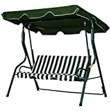 Outsunny 3 Seater Canopy Swing Chair Outdoor Garden Bench with...