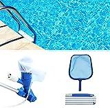WEAREWE Pool Vacuum Cleaner Swimmer Pool Skimmer Set Kit for...
