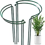 OAHAO 4 Pack Plant Support Stakes Ring Cage Metal Garden Plant...