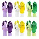 Jardineer Gardening Gloves Women 6 Pairs, Ladies Gardening Gloves...