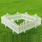 Sungmor Pack of 4 Garden Picket Fence,96 Inch Plastic White...