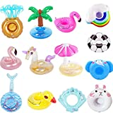 13 Pcs Inflatable Drink Holders Floats,Inflatable Pool Drink Cup...