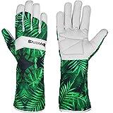 Leather Gardening Gloves Ladies Men/Women Short & Long Forearm...