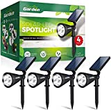 Signature Garden LED Solar Garden Spotlights (4 Pack)...