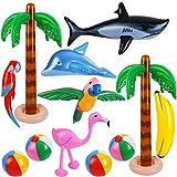 Ruisita 12 PCS Hawaiian Party Luau Party Set Inflatable Beach...