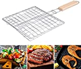 KSS Barbecue BBQ Grill Basket Double Fish Grilling Bask