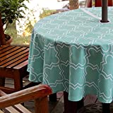 BTSKY 60' Patio Outdoor Umbrella Tablecloth with Zipper and...