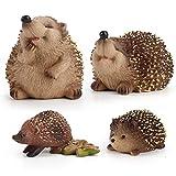 4 pcs Hedgehog - Garden Animal Outdoor Ornaments Decor Statue...