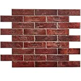 Vintage Red Exposed Brick Effect PVC Wall Cladding Panels - Set...