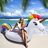 SUNNOW Unicorn Pool Float Giant Inflatable Toy Outdoor Swimming...