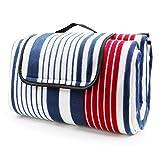 LIVEHITOP Fleece Picnic Blanket Waterproof Backing 200x200 cm -...