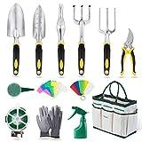 YISSVIC Garden Tools Set 13 Pieces Garden Hand Tools Set with...