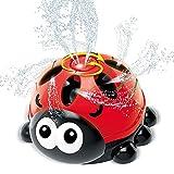 INSOON Water Sprinkler for Kids Backyard Spray Ladybug Sprinkler...