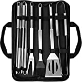 MadxfroG BBQ Grill Tool Set 8 Pcs Stainless Steel Barbecue...