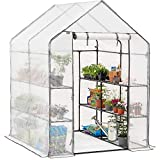 CHRISTOW Walk In Greenhouse With Shelves, Reinforced Green House...